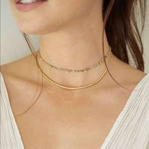 Gorjana 18k gold plated gem chocker